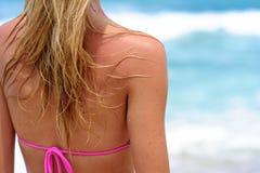 Menina da praia Foto de Stock