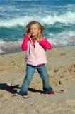Menina da praia imagem de stock