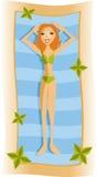 Menina da praia ilustração do vetor