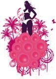 Menina da praia do clube da casa ilustração do vetor