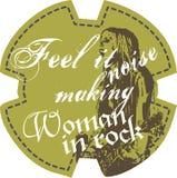 Menina da rocha Imagens de Stock Royalty Free