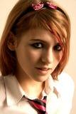 Menina da sombra Imagens de Stock