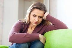 Menina da tristeza Imagem de Stock