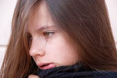 Menina da tristeza Imagem de Stock Royalty Free
