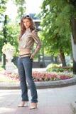 Menina Dark-haired Imagem de Stock Royalty Free