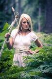 Menina das Amazonas foto de stock