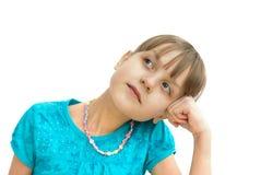 Menina Daydreaming imagens de stock royalty free