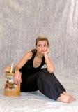 Menina Daydreaming Imagem de Stock