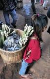Menina de Ásia do mercado do alimento de Camboja Fotografia de Stock Royalty Free
