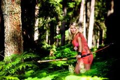 Menina de Amazon Foto de Stock