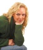 Menina de assento Imagem de Stock Royalty Free