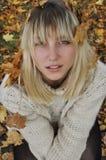 Menina de Autamn Imagens de Stock