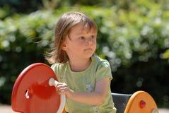 Menina de balanço Imagem de Stock