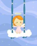 Menina de balanço do anjo Imagens de Stock