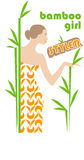 Menina de bambu Fotografia de Stock Royalty Free