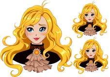 Menina de Blondy Imagem de Stock Royalty Free