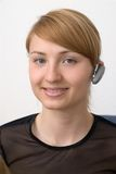 Menina de Bluetooth Fotografia de Stock