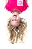 Menina de cabeça para baixo Foto de Stock
