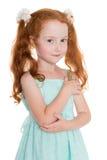 Menina de cabelo consideravelmente vermelha Fotos de Stock Royalty Free