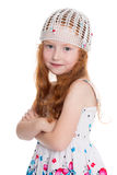Menina de cabelo vermelha de seis anos Fotos de Stock Royalty Free