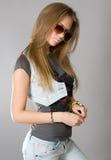 Menina de cabelos compridos foto de stock royalty free