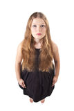 A menina de cabelos compridos ereta Fotos de Stock