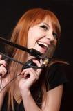 Menina de canto. Fotografia de Stock Royalty Free
