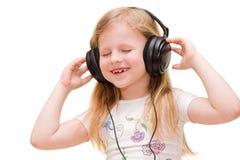Menina de canto Imagem de Stock Royalty Free