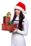 Menina de Christmass Fotos de Stock