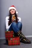 Menina de Christmass Fotos de Stock Royalty Free