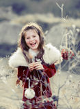 Menina de Chritmas Fotografia de Stock