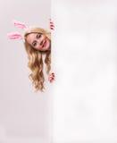 Menina de coelho Imagem de Stock Royalty Free