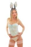 Menina de coelho no roupa interior Fotografia de Stock Royalty Free
