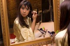 Menina de composição - olhos fotografia de stock
