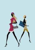 Menina de compra ilustração do vetor