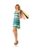Menina de compra Foto de Stock Royalty Free