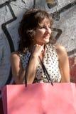 Menina de compra Imagem de Stock