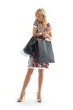 Menina de compra #3 imagens de stock