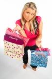 Menina de compra Fotografia de Stock