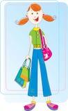 Menina de compra Imagem de Stock Royalty Free