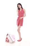 Menina de compra asiática Foto de Stock Royalty Free