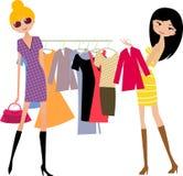 Menina de compra da forma ilustração royalty free