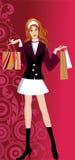 Menina de compra de Glam ilustração do vetor