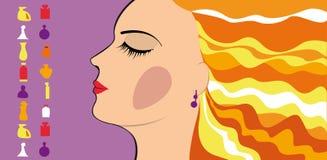 Menina de compra, perfume Imagem de Stock Royalty Free