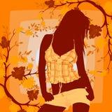 Menina de dança ilustração do vetor