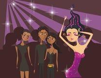 Menina de dança dos desenhos animados Imagem de Stock