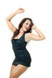Menina de dança feliz Fotos de Stock Royalty Free