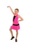 Menina de dança feliz da torneira Fotos de Stock