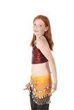 Menina de dança nova da barriga Imagem de Stock Royalty Free