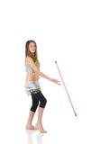 Menina de dança nova da barriga Imagem de Stock